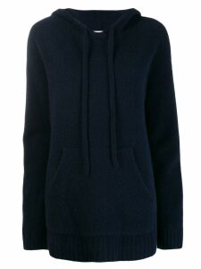 Pringle of Scotland Oversized Soft Hoodie - Blue