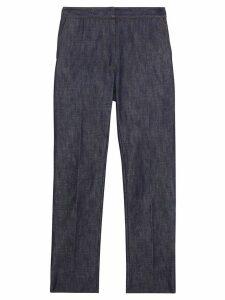 Burberry Straight Fit Monogram Motif Japanese Denim Jeans - Blue