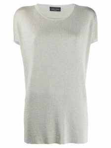 Roberto Collina lurex knit top - Neutrals
