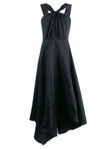 A.W.A.K.E. Mode Andie knot front dress - Black