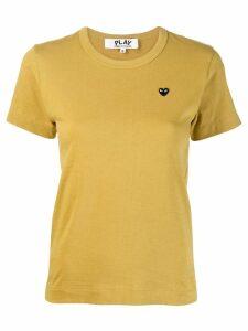 Comme Des Garçons Play Heart embroidered T-shirt - Yellow