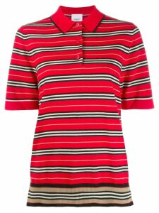 Burberry striped polo top - Red