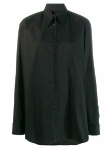 Mm6 Maison Margiela oversized slogan print shirt - Black