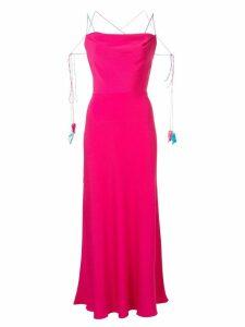 Anna October spaghetti straps long dress - PINK
