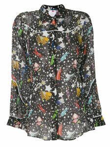 Ultràchic star print shirt - Black