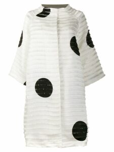 Gianluca Capannolo fringed oversized coat - White