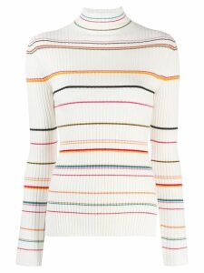 SJYP striped ribbed sweater - White