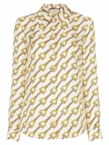 Gucci Stirrups print blouse - White