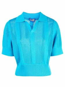 Lhd perforated polo shirt - Blue