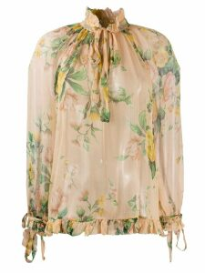 Zimmermann neck tie blouse - NEUTRALS