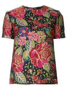 Manish Arora short-sleeved floral top - Multicolour
