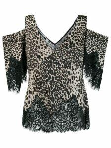 McQ Alexander McQueen leopard print blouse - NEUTRALS