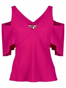McQ Alexander McQueen cut out detail blouse - Pink