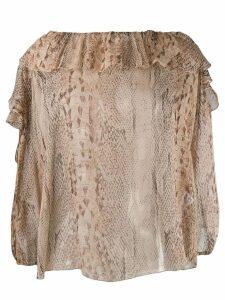 Blumarine snakeskin print blouse - Neutrals