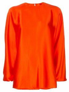 Roksanda Flora long-sleeved blouse - Red