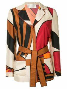 Alberta Ferretti belted shirt - Multicolour