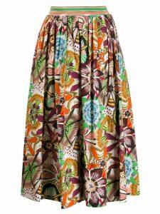 Missoni pleated midi skirt - Orange
