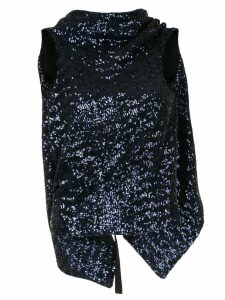 Roland Mouret sequinned turtleneck top - Purple