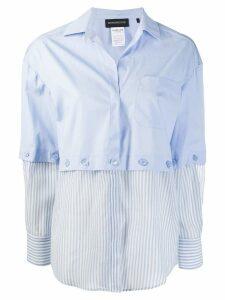 Sport Max Code contrast panelled shirt - Blue