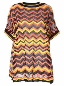 M Missoni zigzag knit top - Brown