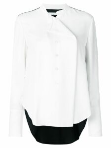 Oscar de la Renta folded neck blouse - White