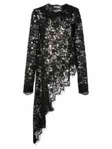 Oscar de la Renta lace asymmetric blouse - Black