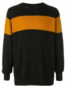The Elder Statesman striped racing jumper - Grey