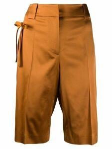 Prada bow detail bermuda shorts - Orange