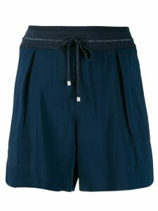 Lorena Antoniazzi drawstring shorts - Blue