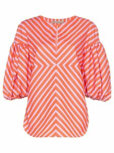 Silvia Tcherassi Anni puff-sleeve striped blouse - Pink
