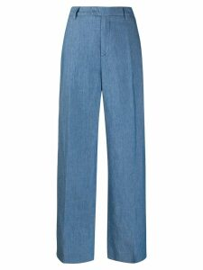 Closed flared trousers - Blue