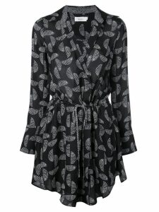 A.L.C. patterned wrap dress - Black