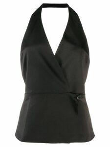 Blanca Vita wrap front blouse - Black