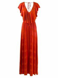 Ailanto ruffle sleeve dress - Orange
