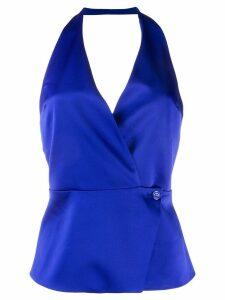 Blanca wrap front blouse - Blue