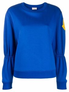 Moncler gathered sleeve sweatshirt - Blue