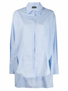 Frenken oversized long-sleeve shirt - Blue