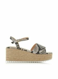 Womens *Head Over Heels By Dune Multi Colour 'Kendon' Mid Heel Sandals- Natural, Natural
