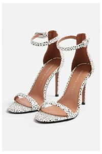 Womens **Wide Fit Susie Two Part Skinny Heel Sandals - Monochrome, Monochrome