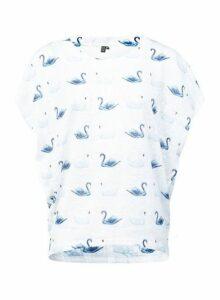 Womens *Izabel London White Swan Print T-Shirt, White