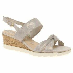 Marco Tozzi  Burton Womens Wedge Heel Sandals  women's Sandals in Gold