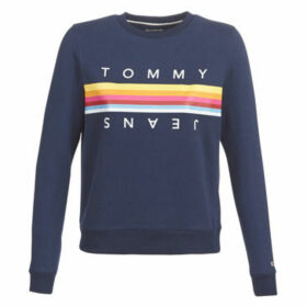 Tommy Jeans  TJW RAINBOW TOMMY  women's Sweatshirt in Blue