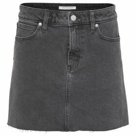 Calvin Klein Jeans Mid Rise Denim Skirt - Allias Black