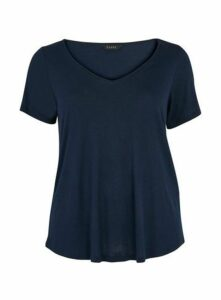Navy Blue V-Neck T-Shirt, Navy
