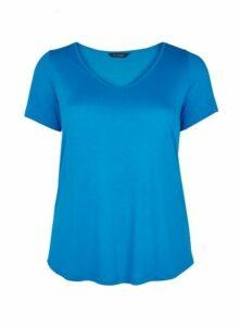 Turquoise V-Neck T-Shirt, Turquoise