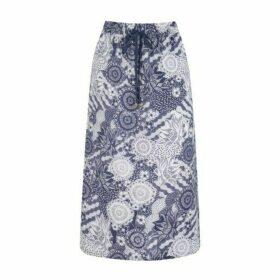 Sea Breeze Pull On Linen Skirt