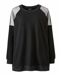 Mesh Shoulder Sweatshirt
