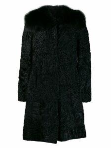 Prada Pre-Owned jacquard midi coat - Black