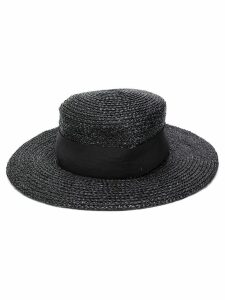 Chanel Pre-Owned 1980's wide-brim hat - Black