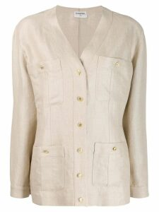 Chanel Pre-Owned 1980's four pocket jacket - NEUTRALS